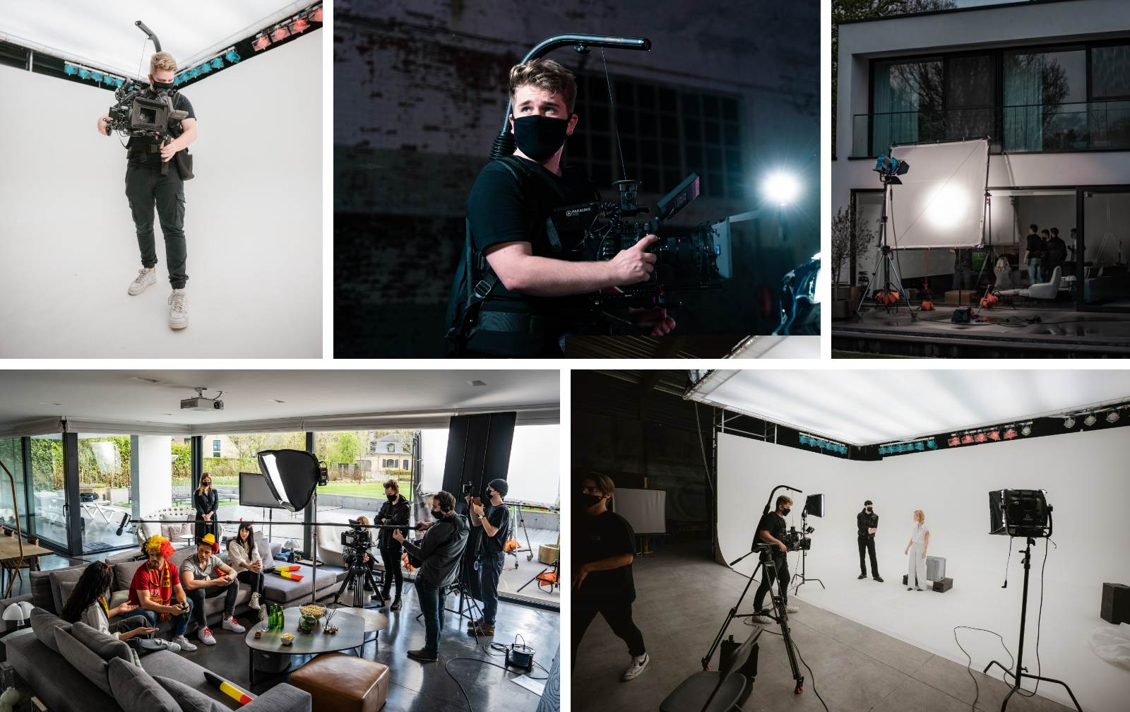 behind the scenes collage